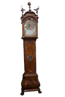 Fine 18th C Zaandam Dutch Grandfather Clock