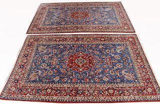Matched Pair of Persian Isfahan Rugs