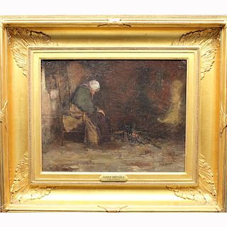 Josef Israels (1824 - 1911) Oil/Canvas