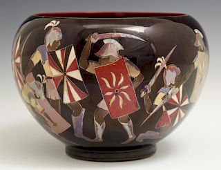 Zsolnay Baluster Vase, 20th c., Hungary, #644/14,