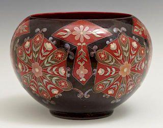 Zsolnay Hand Painted Baluster Vase, 20th c., Hunga