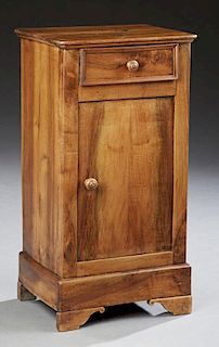 French Louis Philippe Carved Cherry and Walnut Nig