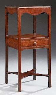 English Carved Mahogany Bowl and Pitcher Stand, 19