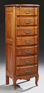 French Louis XV Style Carved Cherry Bowfront Semai