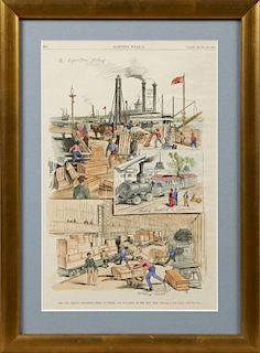 """The New Orleans Exposition - Scene on Wharf and U"