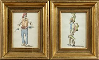 """Continental School, """"The Wine Seller,"""" and """"The Fi"""