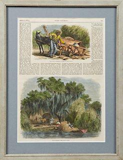 """""""Moss-Gatherers, Near Baton Rouge,"""" August 5, 1871"""