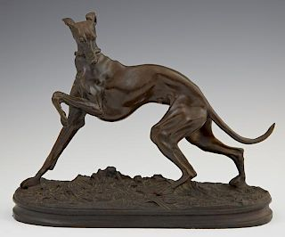 "After P. J. Mene (1810-1879), ""Greyhound with Left"
