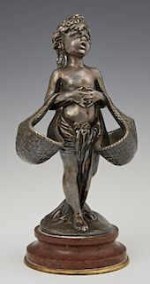 """After Joseph Cheret (1838-1894), """"Putto with Baske"""