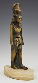 Bronze Egyptian Figure of the God Nefertum, early