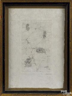 Hans Bellmer (French/Polish 1902-1975), etching, titled Mode d'Emploi, signed lower right