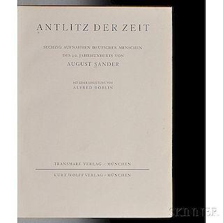 Sander, August (1876-1964) Antlitz der Zeit.