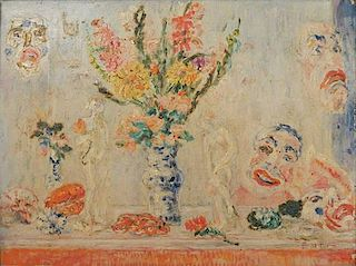 James Ensor, Oil on Panel