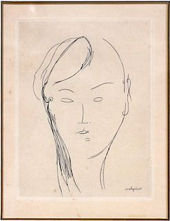 AMEDEO MODIGLIANI ETCHING ON PAPER