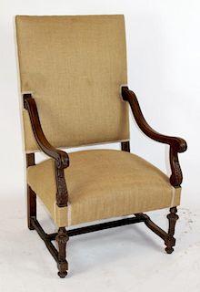 French Renaissance armchair in walnut