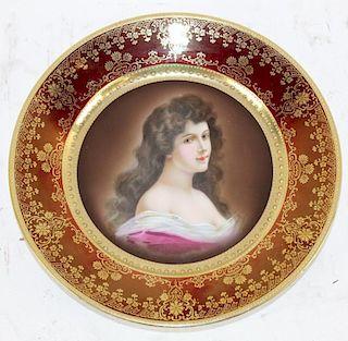 Royal Vienna porcelain portrait cabinet plate