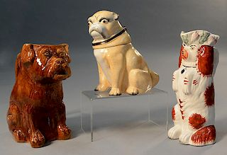 Three English figural pottery pieces