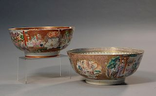 Two Chinese 18th C. punch bowls