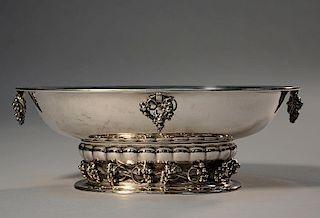 Silver Georg Jensen grape pattern oval center piece