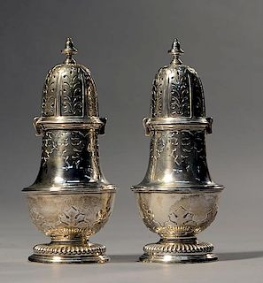 Pair of English sterling castors