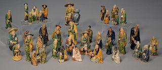 39 Glazed Chinese Pottery Mud Men