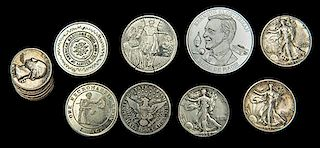 Group of Vintage Magician's Silver Coins and Tokens