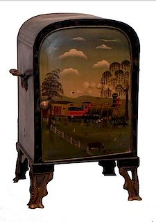 Painted tin plate warmer