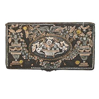 RUSSIAN TULA POCKET SNUFF BOX, 18TH CENTURY