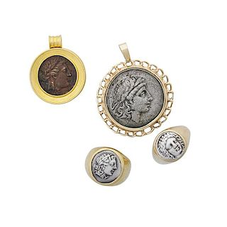 GOLD & ANCIENT GREEK EMPIRE COIN JEWELRY