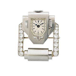 VAN CLEEF & ARPELS DIAMOND & PLATINUM WATCH