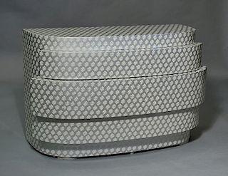 Designer Deco style three drawer dresser