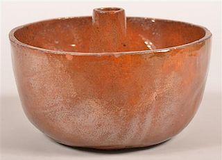 Antique Glazed Redware Turks Mold.
