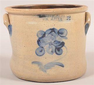 Wm. Moyer Two Gallon Stoneware Crock.