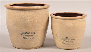 Two Christian Link Stonetown, Berks Co., PA Crocks.