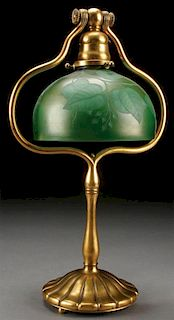 A TIFFANY STUDIOS AND FAVRILE GLASS TABLE LAMP