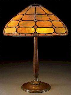 "A TIFFANY STUDIOS ""COLONIAL"" TABLE LAMP"