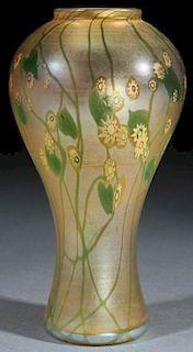 """L.C. TIFFANY FAVRILE """"MILLEFIORI"""" ART GLASS VASE"""