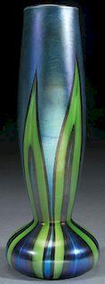 A FINE L.C.TIFFANY FAVRILE ART GLASS VASE