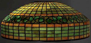 "TIFFANY STUDIOS ""LEMON LEAF"" FAVRILE GLASS SHADE"