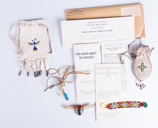 Native Americana Pouches, Bracelet, & Ephemera