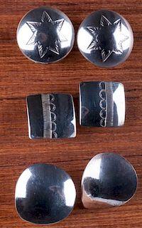 Southwestern Sterling Earrings Trio