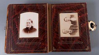 Cabinet Card Photo Album, West Virginia & PA