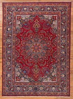 Antique Iranian Mashad 8' x 11' Rug