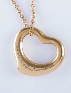 Elsa Peretti Tiffany & Co. 18K Yelow Gold Necklace
