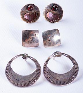 Howard Sice Hopi Sterling Earrings & S/S Duo