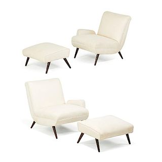 ITALIAN PAIR OF LOUNGE CHAIRS