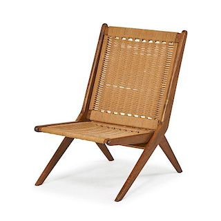 STYLE OF GIO PONTI FOLDING LOUNGE CHAIR