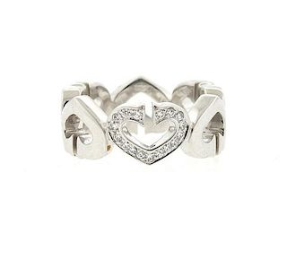 Cartier C Heart 18k Gold Diamond Ring