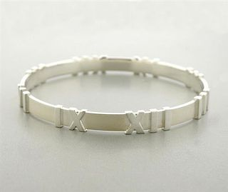 Tiffany & Co Atlas Sterling Silver Bangle Bracelet