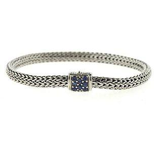John Hardy Sterling Sapphire Classic Chain Bracelet